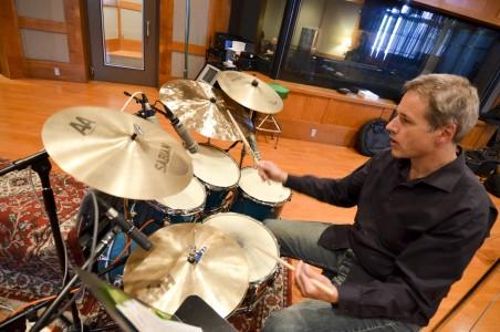 Scott at recording session